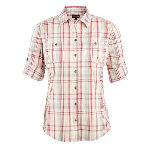 Wolverine Women's Sidney Roll-Sleeve Shirt-Sangria Plaid