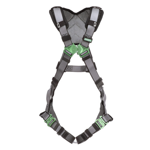 MSA V-FIT Safety Harness with Back D-Ring and Quick Connect Leg Straps