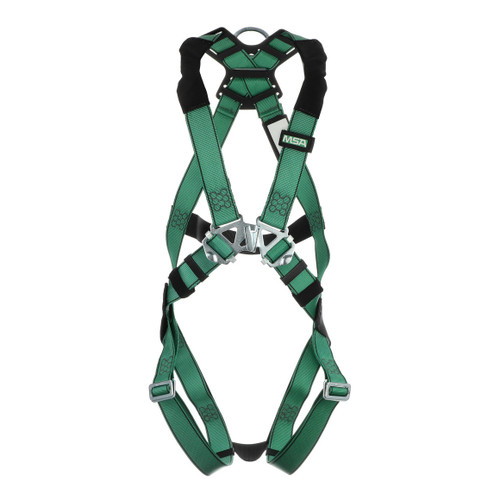 MSA V-FORM Safety Harness with Back D-Ring and Qwik-Fit Leg Straps