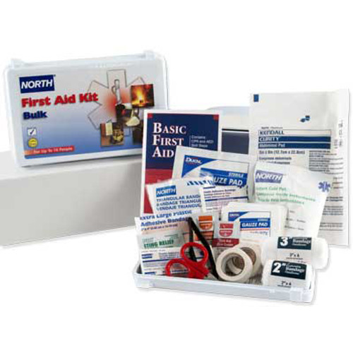 North 10 Person Bulk First Aid Kit, Plastic Case