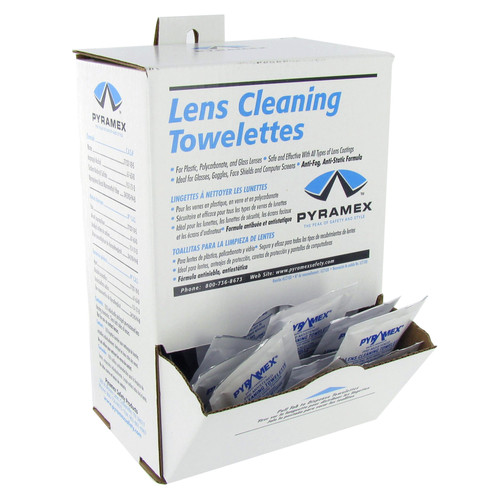 Pyramex Lens Cleaning Towelettes - Box of 100