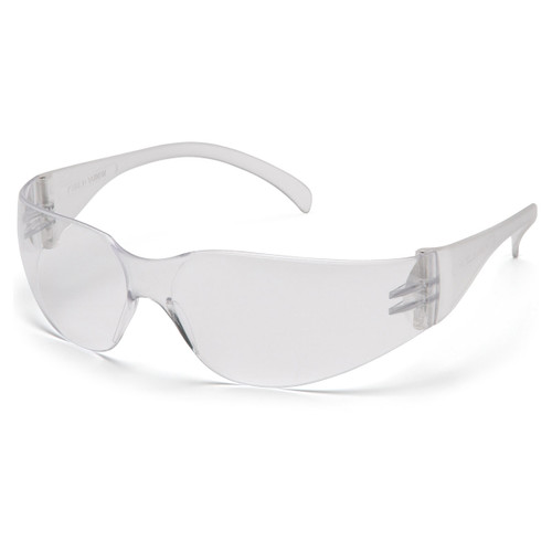 Pyramex Intruder Clear Frame Safety Glasses with Clear Lens