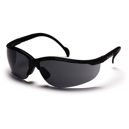 Pyramex Venture II Black Frame Safety Glasses w/ Gray Lens