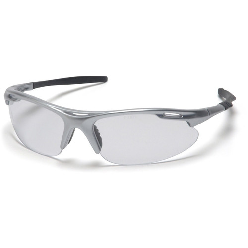 Pyramex Avante Silver Frame Safety Glasses w/ Clear Lens