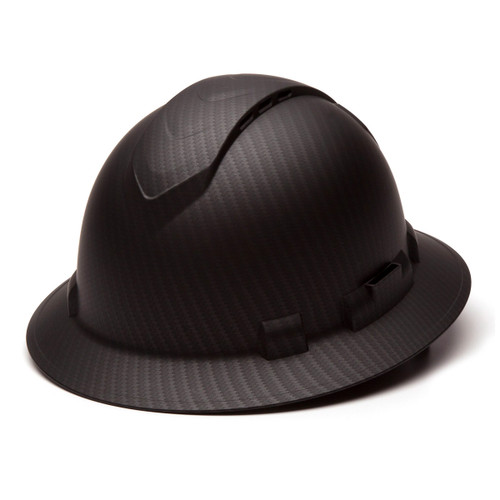Pyramex Ridgeline Graphite Full Brim Vented 4-Point Ratchet Hard Hat - HP54117V