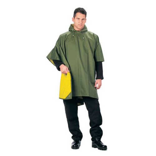 Rothco - Rain Poncho - Reversible - Rubberized Nylon