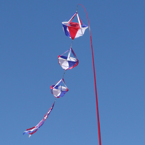 Patriotic Spinning Wind Decoration - Large