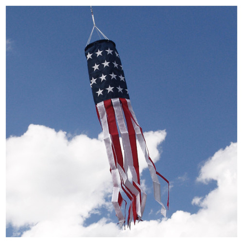 "Embroidered Patriotic Windsock - 6"" x 40"""