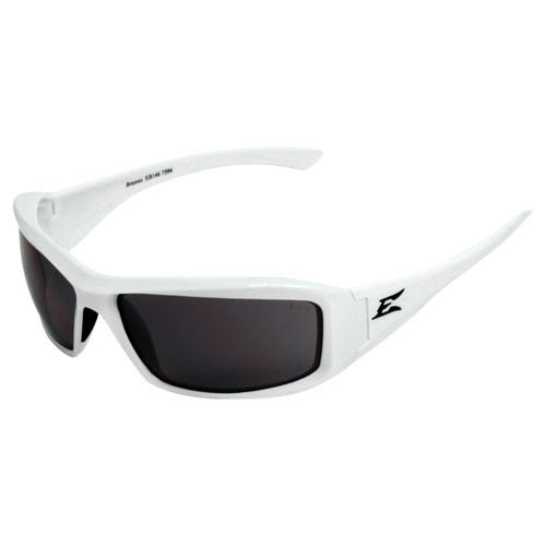 Edge Brazeau White Series Safety Glasses - Smoke Lens