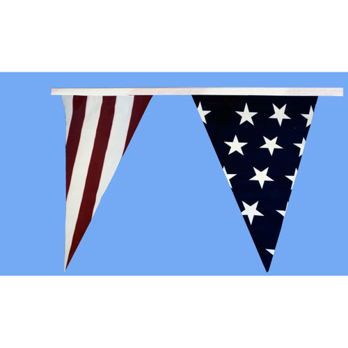 Patriotic Pennant Flag Streamers - 30'