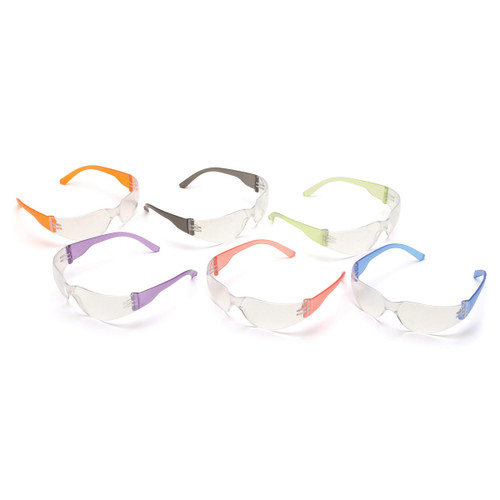 Pyramex Safety Mini Intruder Safety Glasses Multi-Color 12 Pack - S4110SNMP