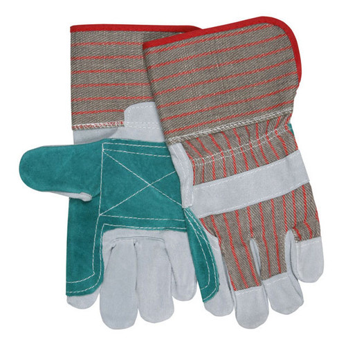 MCR Safety Women's Economy Double Leather Palm Work Gloves - 1201DP