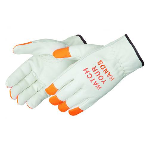 """Liberty """"Watch Your Hands"""" Leather Driver Work Gloves - I6137F"""