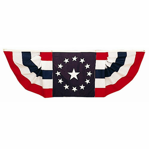 Patriotic Pleated Fan Bunting- Reliance