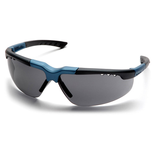 Pyramex Safety Reatta Safety Glasses - Blue-Charcoal Frame/Gray Lens