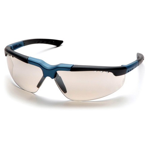 Pyramex Safety Reatta Safety Glasses - Blue-Charcoal Frame/Indoor/Outdoor Mirror Lens