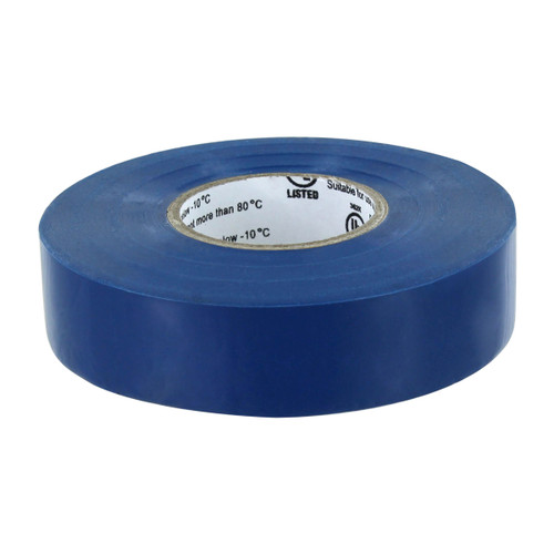 Rugged Blue M 809 Electrical Tape 3/4in x 66ft x 7 mil U/L Blue
