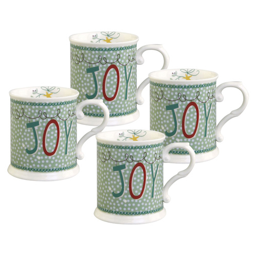 Winter Joy Chocolate Mugs - Set of 4