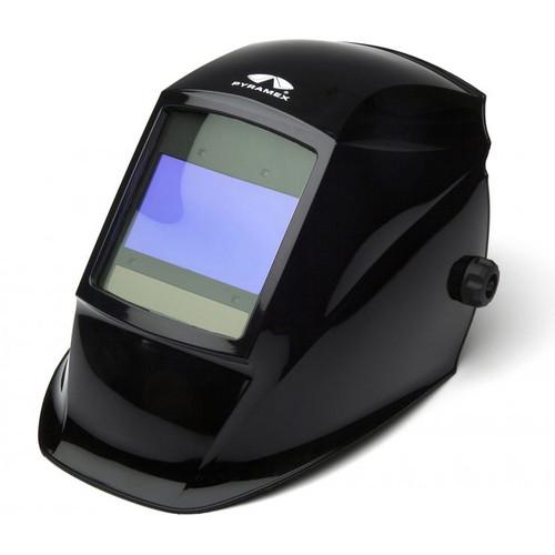 Pyramex Safety WHAD60 Glossy Black Autodarkening Welding Helmet - Digital 100x60mm