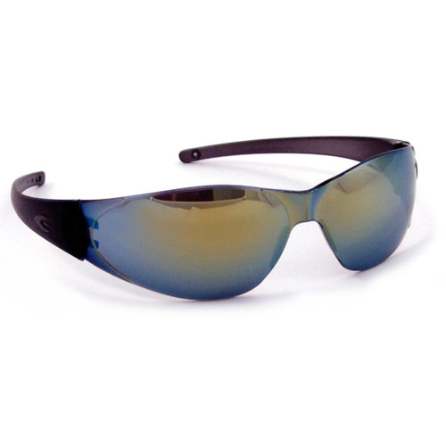 Crews CheckMate Safety Glasses with Rainbow Mirror Lens