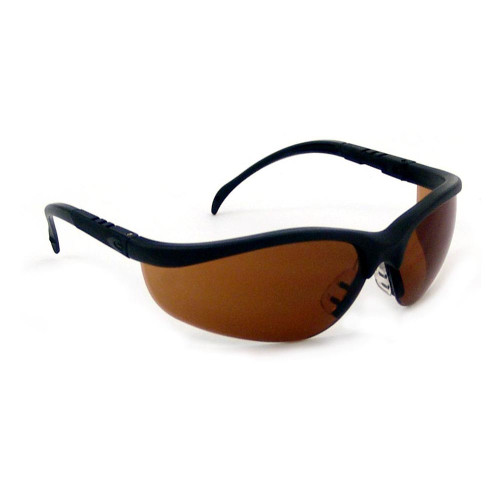 Crews Klondike Safety Glasses with Brown Lens