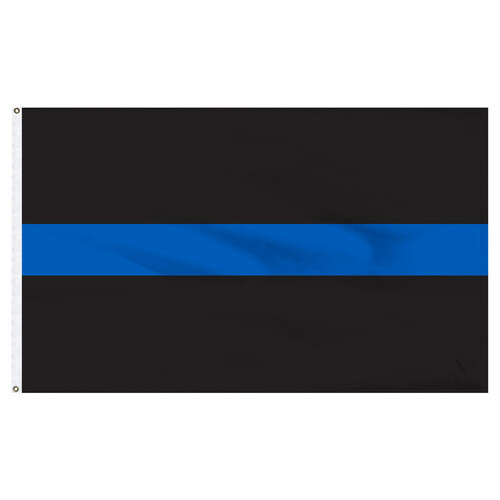 Thin Blue Line Flag 2ft x 3ft Nylon