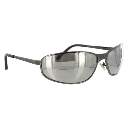 Uvex Tomcat Safety Glasses w/ Silver Mirror Lens