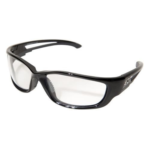 Edge Kazbek XL Safety Glasses with Black Frame - Clear Lens