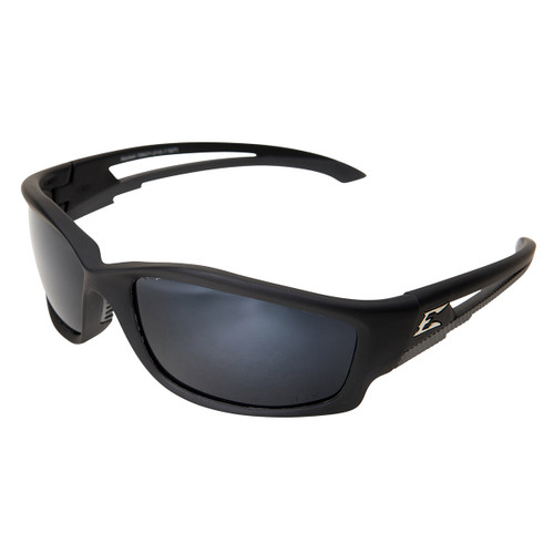 Edge Kazbek Safety Glasses with Black Frame - Polarized Silver Lens