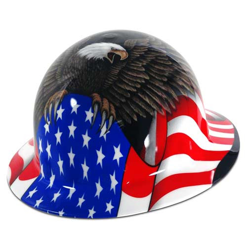 Fibre Metal Full Brim Spirit of America Hard Hat