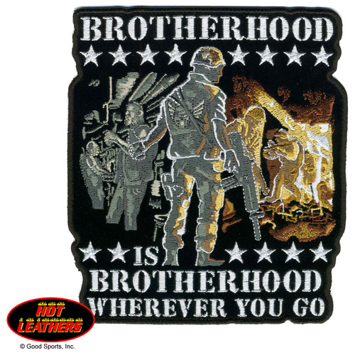 Hot Leathers Patches Brotherhood Wherever You Go Patch