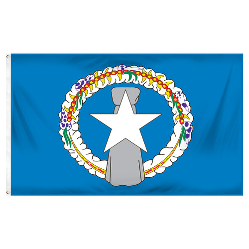 Northern Marianas Flag 3ft x 5ft Printed Polyester