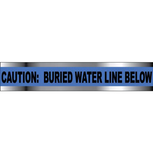 """Caution Water Line Below, 6"""", Detectable Warning Tape"""