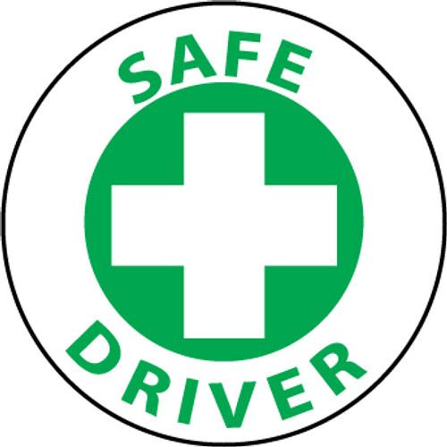 """Safe Driver, 2"""", Pressure Sensitive Vinyl Hard Hat Emblem, Single Sticker"""