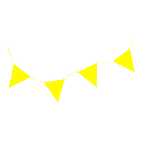 Pennant Flags, Yellow, 9x12
