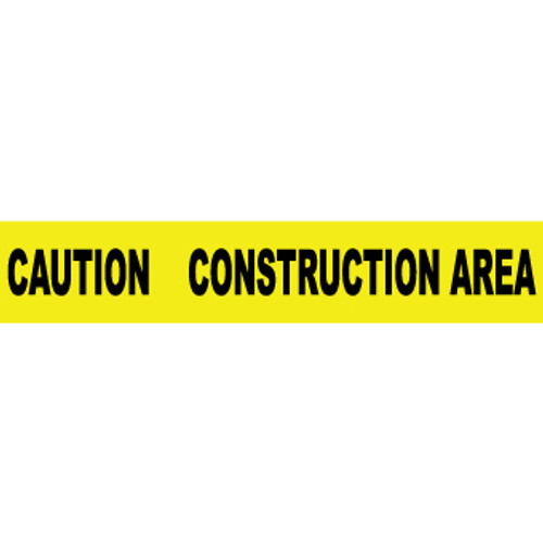 "Caution Construction Area, 3"" x 1000', Barricade Tape"