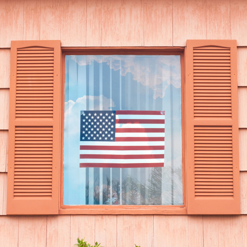 "US Window Flag 12"" x 18"" Poly Cotton"