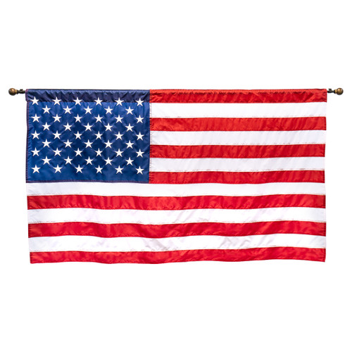 Auditorium Wall Mounted US Flag 3ft x 5ft Nylon By Super Tough