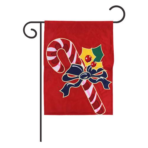 Candy Cane Garden Flag