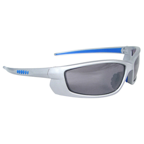 Radians Voltage Safety Glasses - Silver Frame - Electric Blue Lens