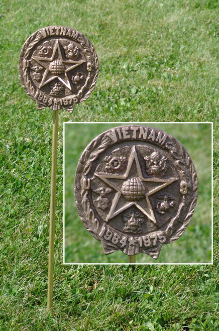 Vietnam War Veteran Grave Marker - in Cast Bronze