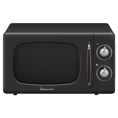 0.7 Cu. Ft. Retro Countertop Microwave - Black