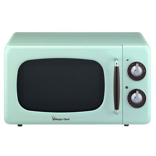 0.7 Cu. Ft. Retro Countertop Microwave - Mint Green