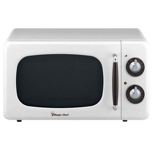 0.7 Cu. Ft. Retro Countertop Microwave - White