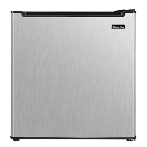Magic Chef 1.7 Cu. Ft. Compact Refrigerator - Stainless - MCAR170STE