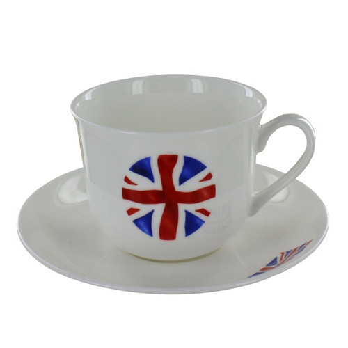 Crown Trent Union Jack - Breakfast Cup & Saucer Set