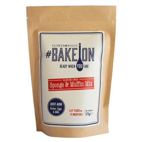 Flower White #BakeOn Gluten Free Sponge & Muffin Mix - 13.2oz (375g)