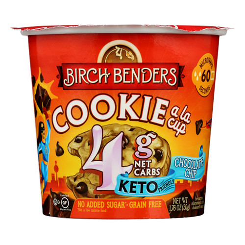 Birch Benders Baking Cup - Chocolate Chip Cookie - 1.76oz (49g)