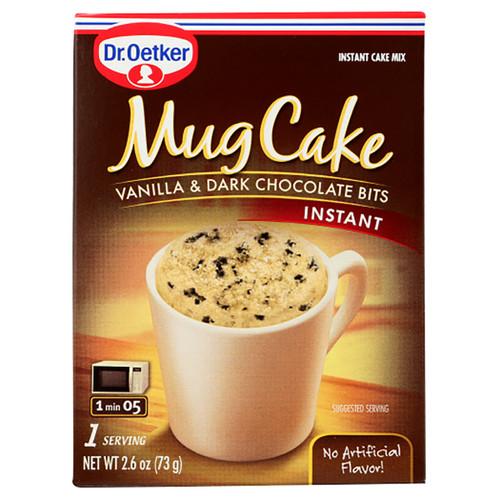 Dr. Oetker Mug Cake Instant Mix - Vanilla & Dark Chocolate Bits  - 2.6oz (73g)