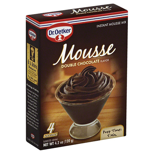 Dr. Oetker Mousse Supreme Double Chocolate Instant Dessert Mix - 4.2oz (120g)